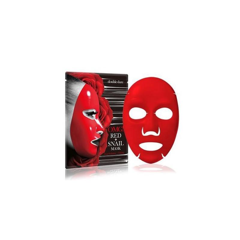 Drėkinanti ir veido odą stangrinanti kaukė OMG! RED + SNAIL MASK, OMG-REDMASK