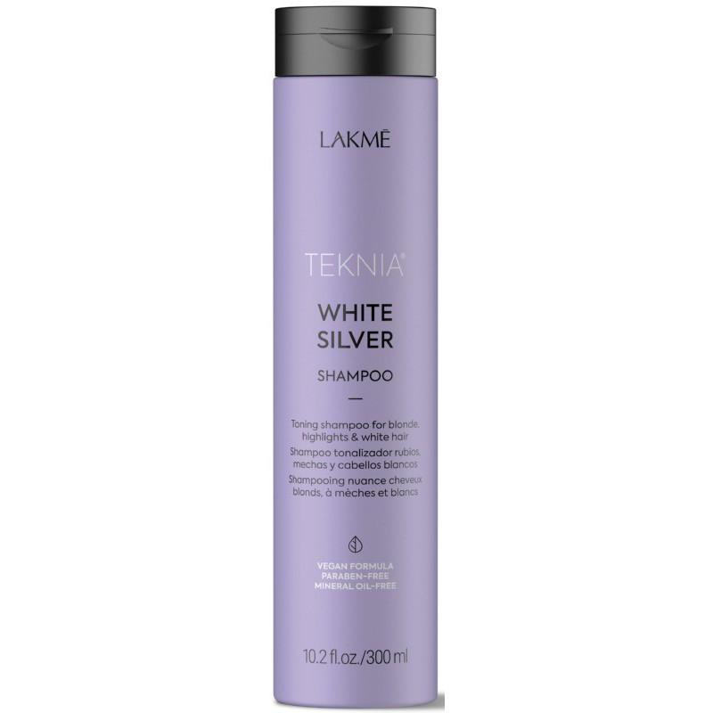 Geltoną atspalvį neutralizuojantis šampūnas plaukams Lakme Teknia White Silver Shampoo 300ml