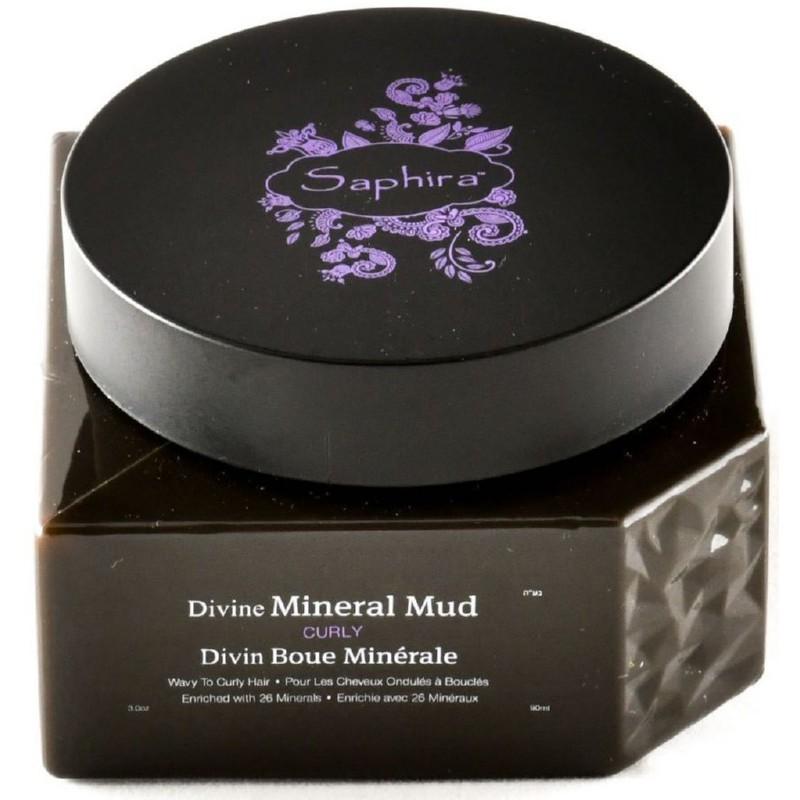 Kaukė-mineralinis purvas plaukams Saphira Divine Mineral Mud, intensyviai drėkinantis, besipučiantiems plaukams
