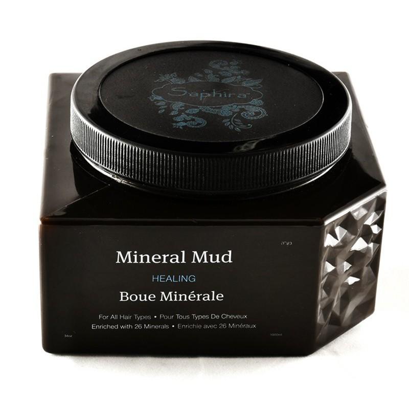 Kaukė-mineralinis purvas plaukams Saphira Mineral Mud su Negyvosios jūros mineralais