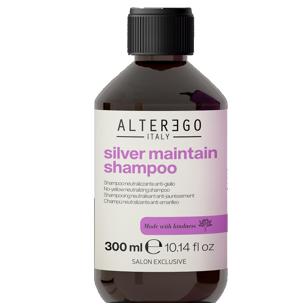 SILVER MAINTAIN sidabro spindesį palaikantis ir geltonumą neutralizuojantis plaukų šampūnas